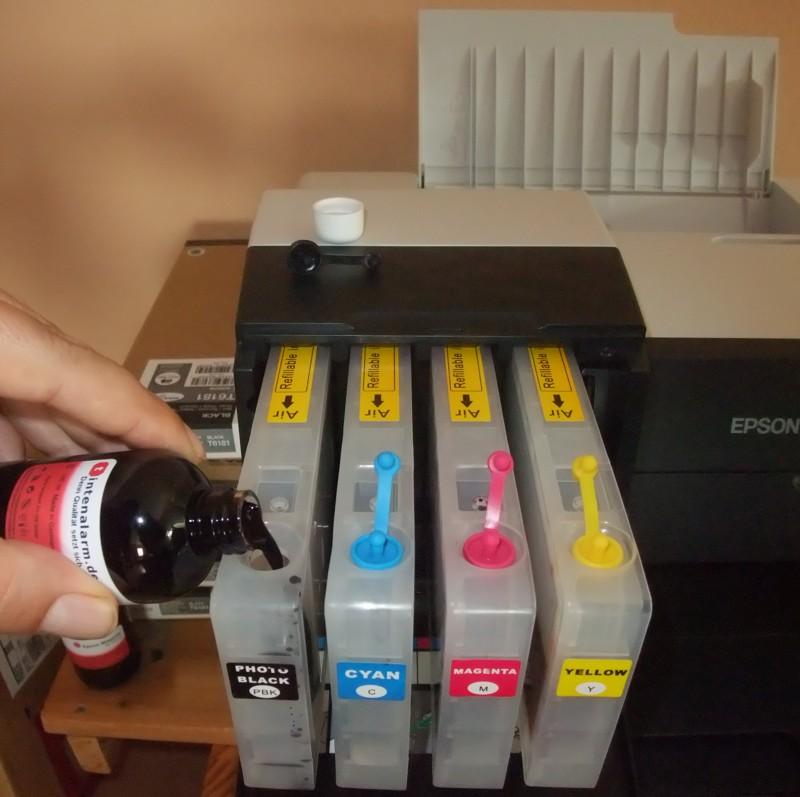 Epson Drucker Patronen Nachfüllen