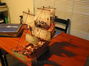 Schiff aus Papier von Paperkraft.net